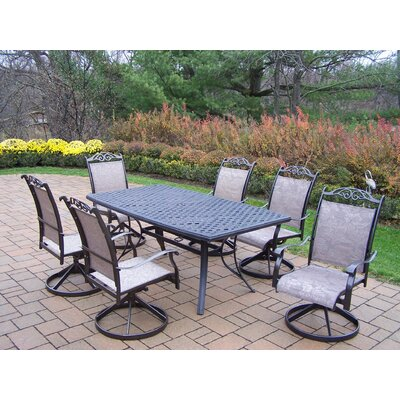 Basile 7 Piece Swivel Dining Set Finish: Coffee