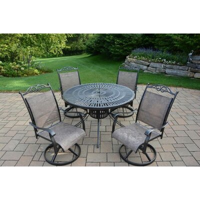 Basile 5 Piece Dining Set Finish: Coffee