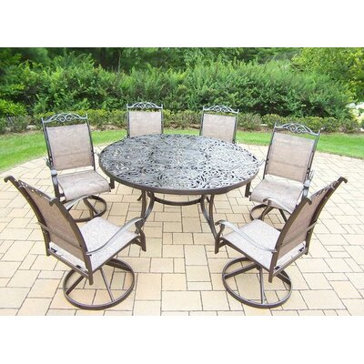 Basile 7 Piece Dining Set Finish: Coffee