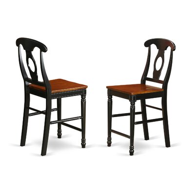 Aimee Bar Stool (Set of 2) Color: Black/Cherry
