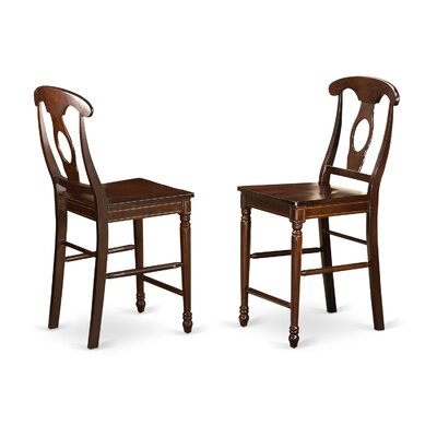 Aimee Bar Stool (Set of 2) Finish: Mahogany