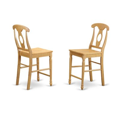 Aimee Bar Stool (Set of 2) Finish: Oak