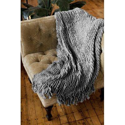 Melisande Ruffled Throw Blanket Color: Grey