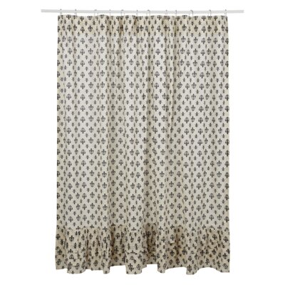 Aurelia Ruffled Cotton Shower Curtain