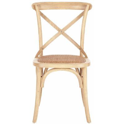 Essie Cross Back Side Chair Finish: Natural