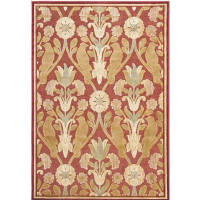 Saint-Michel Red Area Rug Rug Size: Rectangle 33 X 47