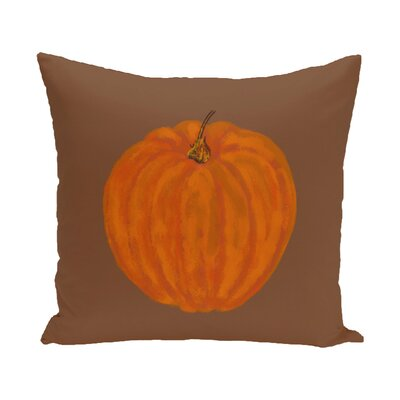 Lil Pumpkin Holiday Print Throw Pillow Size: 16 H x 16 W, Color: Brown