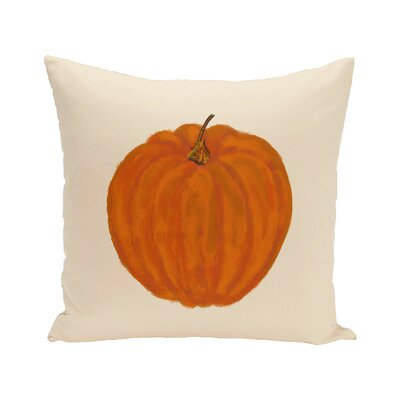Lil Pumpkin Holiday Print Floor Throw Pillow Color: Ivory