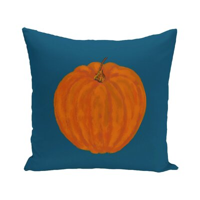 Lil Pumpkin Holiday Print Floor Throw Pillow Color: Blue