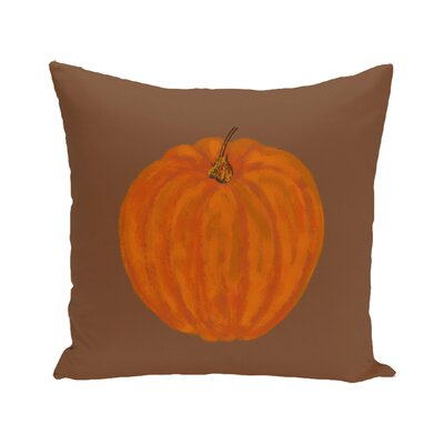 Lil Pumpkin Holiday Print Floor Throw Pillow Color: Brown