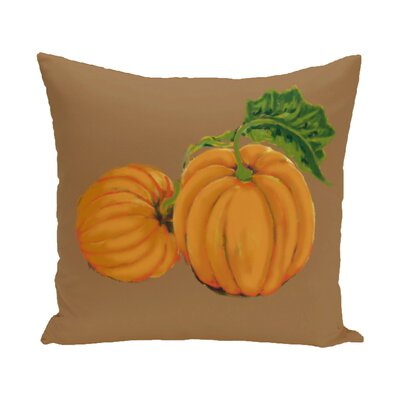 Pumpkin Patch Holiday Print Throw Pillow Size: 18 H x 18 W, Color: Brown