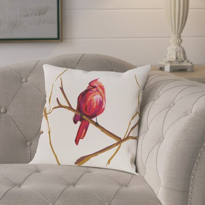 Agave Cardinal Print Outdoor Throw Pillow Size: 20 H x 20 W x 1 D
