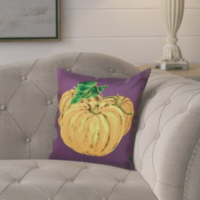 Tres Calabazas Throw Pillow Size: 18 H x 18 W, Color: Purple