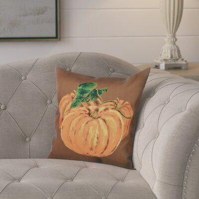 Tres Calabazas Holiday Print Throw Pillow Color: Brown, Size: 26 H x 26 W