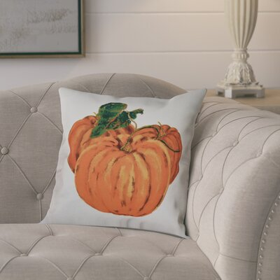 Tres Calabazas Holiday Print Outdoor Throw Pillow Size: 18 H x 18 W, Color: Off White