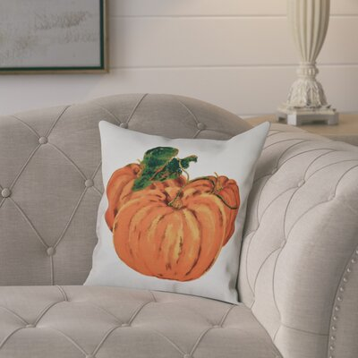 Tres Calabazas Throw Pillow Size: 18 H x 18 W, Color: Ivory