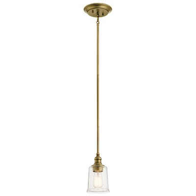 Marseilles 1-Light Mini Pendant Finish: Natural Brass