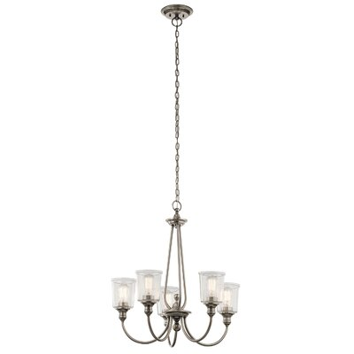 Marseilles 5-Light Shaded Chandelier Finish: Classic Pewter