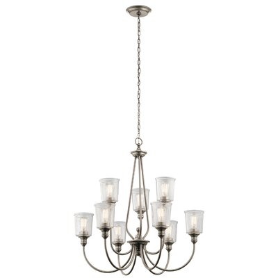 Marseilles 9-Light Shaded Chandelier Finish: Classic Pewter