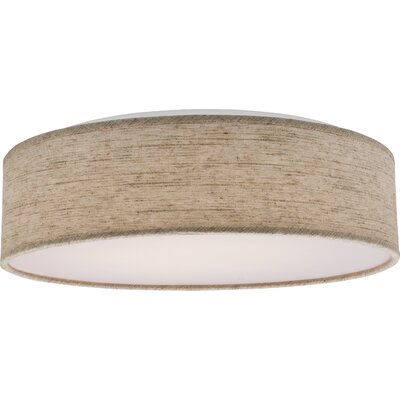 Centauree 1-Light LED Flush Mount Shade Color: Beige