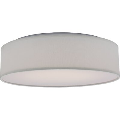 Centauree 1-Light LED Flush Mount Shade Color: White