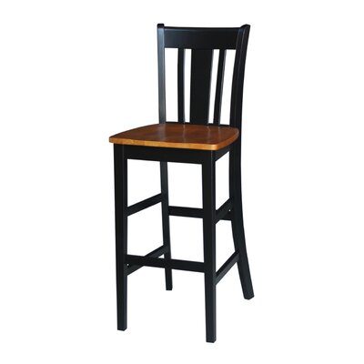 Laurier 30 Bar Stool Color: Black/Cherry