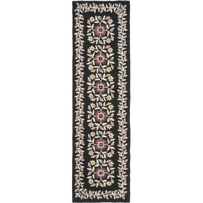 Folklore Hand-Loomed Black/Gray Area Rug Rug Size: Runner 23 x 8