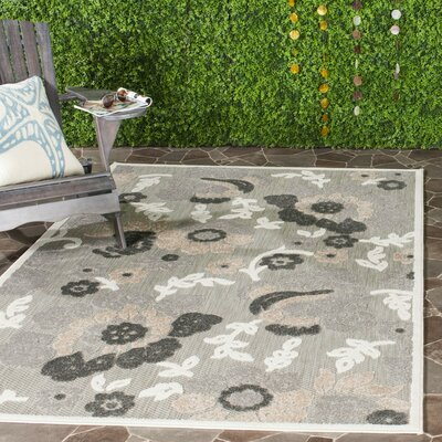 Suri Gray/Dark Gray Indoor/Outdoor Area Rug Rug Size: Rectangle 4 x 6