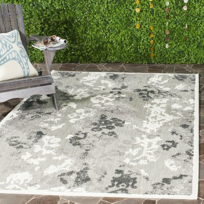 Suri Gray/Dark Gray Area Rug Rug Size: Rectangle 8 x 112