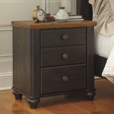 Artemesia 3 Drawer Nightstand