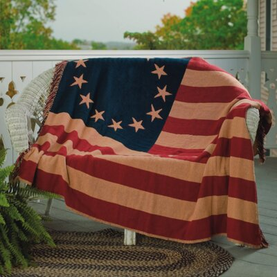 Walcott Old Glory Woven Cotton Throw