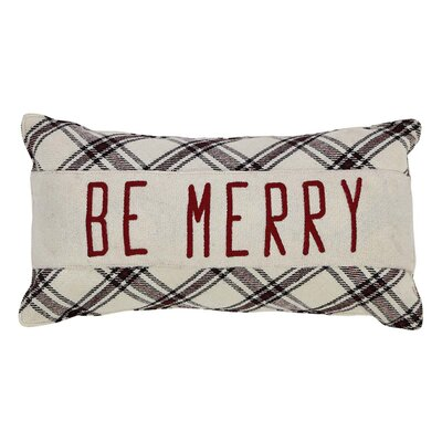 Cody Be Merry 100% Cotton Lumbar Pillow