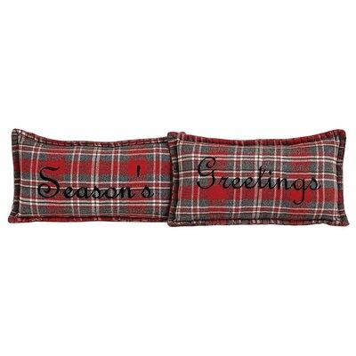 Chamblee 2 Piece Seasons Greetings Lumbar Pillow Set