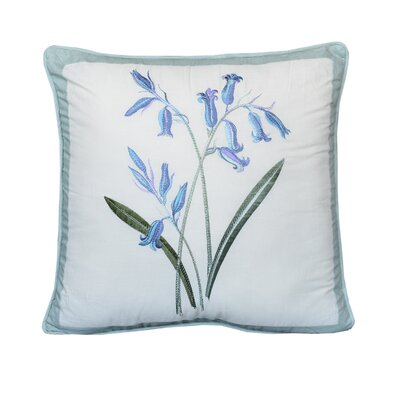 Ethyl Flowers Cotton Throw Pillow