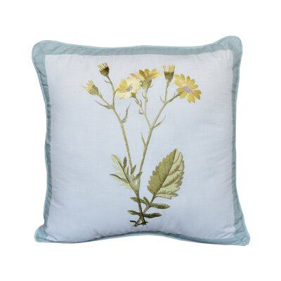 Ethyl Flowers Cotton Throw Pillow