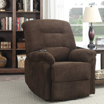 Bescott Power Lift Assist Recliner Upholstery: Chocolate
