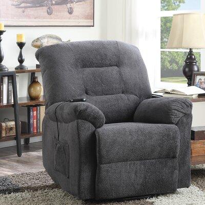 Bescott Recliner Upholstery: Charcoal