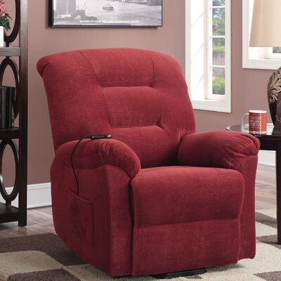 Bescott Power Lift Assist Recliner Upholstery: Brick Red