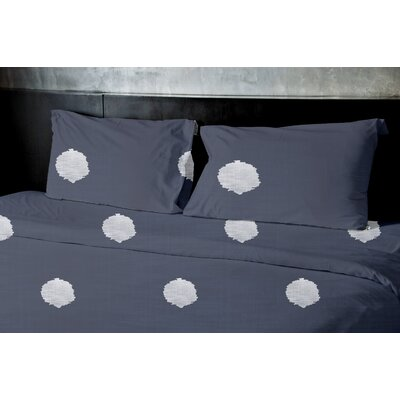 Birtha Duvet Set Color: Blue, Size: Queen