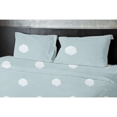 Birtha Duvet Set Size: Queen, Color: Green
