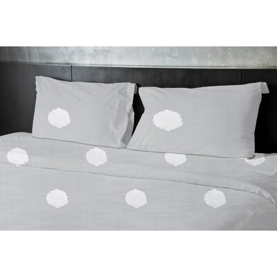 Birtha Duvet Set Size: Twin, Color: Gray
