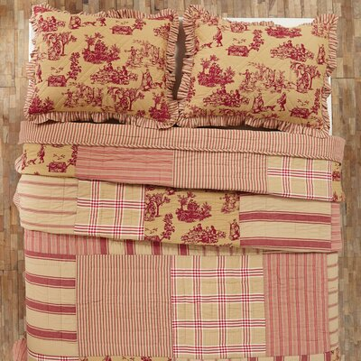 Imogene Patchwork Quilt Color: Red, Size: Twin