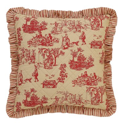 Imogene Quilted Euro Sham Color: Red