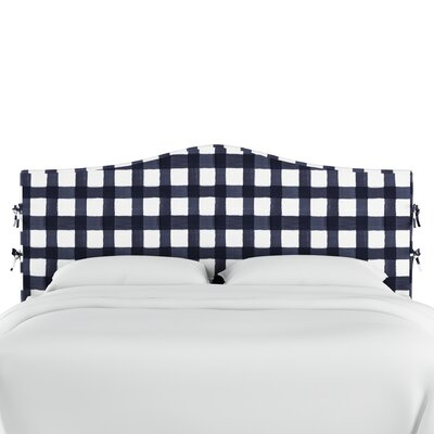 Linnet Linen Upholstered Panel Headboard Size: Queen, Color: Blue
