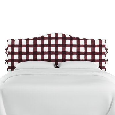 Linnet Linen Upholstered Panel Headboard Size: King, Color: Holiday Red