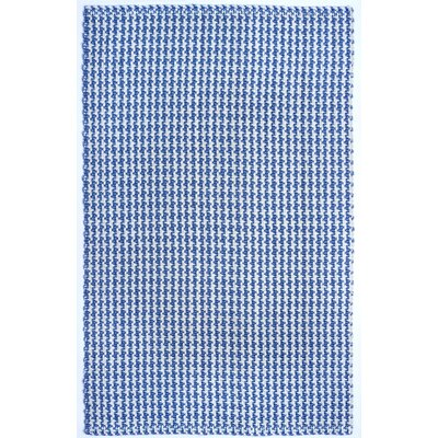 Arette Hand-Woven White/Blue Area Rug Rug Size: 8 x 10