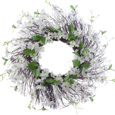 26 Dogwood Wreath Finish: Cream