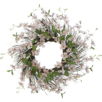 26 Dogwood Wreath Finish: Pink