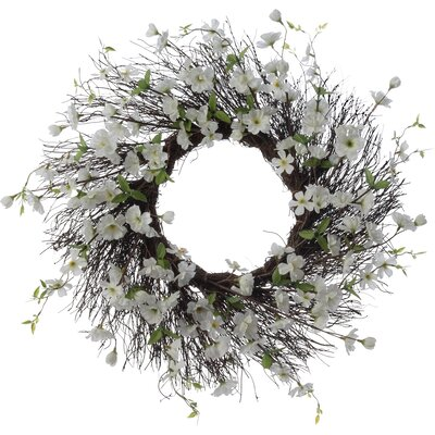 26 Apple Blossom Wreath Finish: White