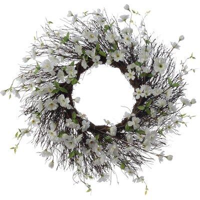 26 Apple Blossom Wreath Finish: White